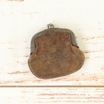 Vintage Leather Coin Purse Advertising Griffin Hardware Henderson Texas