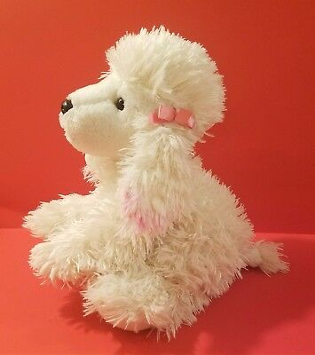 Pink White 12 French Poodle Plush Toy Stuffed Animal Puppy Dog