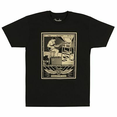Fender Sitting Player Mens Tee Black S