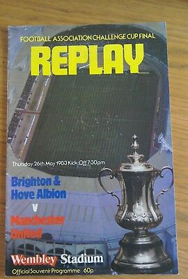 Manchester United v Brighton and Hove Albion FA Cup final replay programme 1983