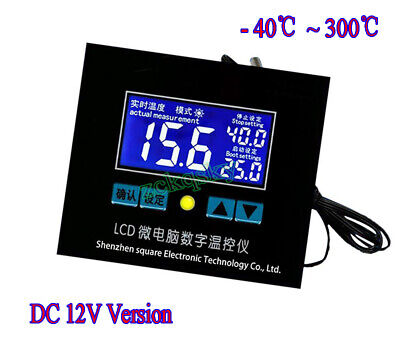 DC 12V -40℃-300℃ LCD Digital Temperature Controller Thermostat Switch + Probe