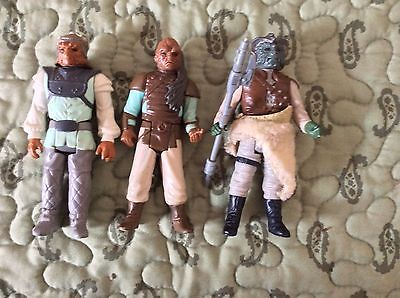 Lot Of Three Vintage Kenner Star Wars:Return Of The Jedi Action Figures