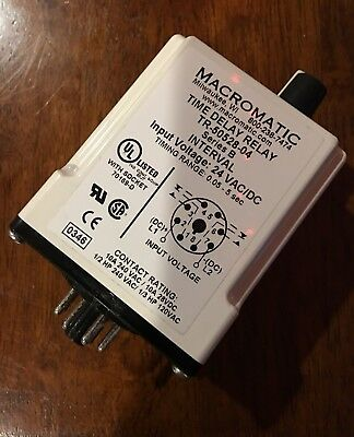 MACROMATIC TIME DELAY Relay 24VAC/DC