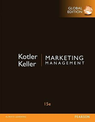 Marketing Management 15th Global Ed. No Code US Delivery 3-4 bus days/Insurance
