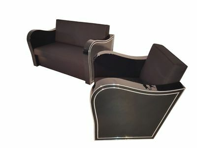 Art Deco Chromliner Couch and Armchair