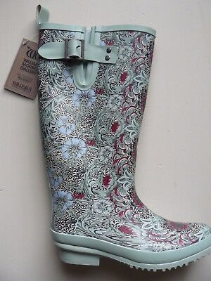 Briers William Morris Corncockle Wellies Wellington Rubber Boots Green Size 4