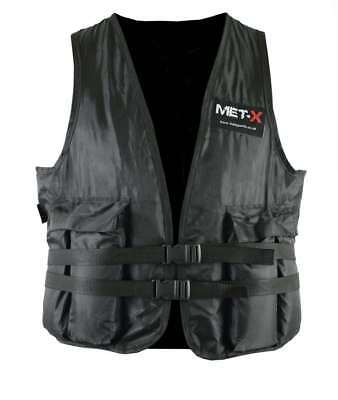 Met-X Weight Weighted Vest Adjustable 10kg Running Weight Loss Fat Burn Black