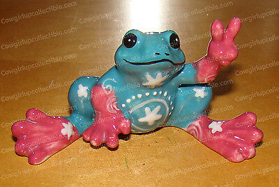 Turquoise FLOWER Mini (Peace Frogs by Westland, 18853) Ceramic