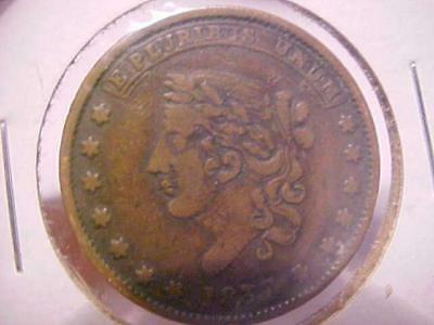 Token 1837 Large Epluribus Unum Not One Cent Millions For Defence