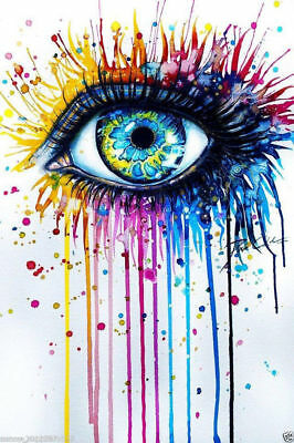 ZOPT219 100% handpainted charmed abstract eye wall art OIL PAINTING ON CANVAS