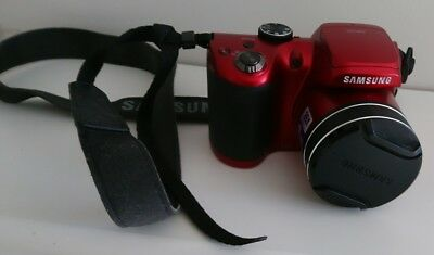 Samsung WB100 Digital Camera 16.2 mb. Red , with   SD Memory card
