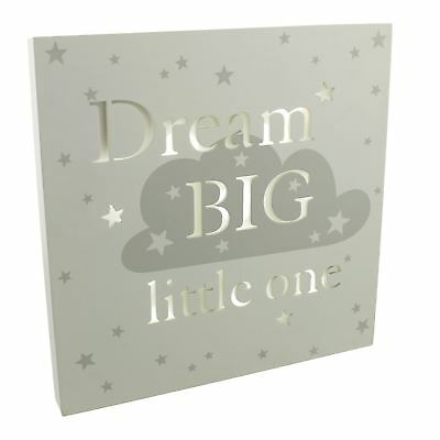 "Baby Kids Nursery Room Bambino Light Up ""Dream Big"" Wall Decorations"