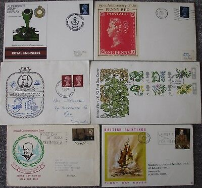 Elizabeth II: 21x Pre-decimal First Day Covers.