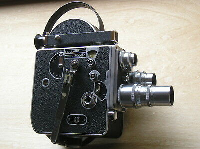 Vintage Paillard Bolex H16 - F25 Movie Camera w/ Wollensak Lens