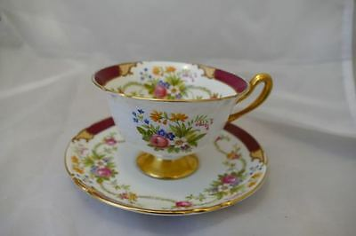 Vintage SHELLEY DUBARRY Cup & Saucer Red