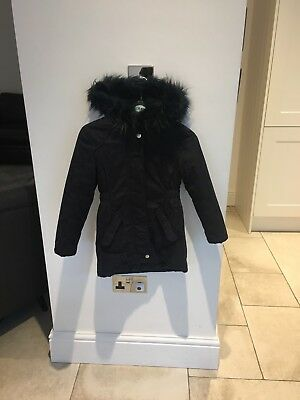 Debenhams Blue Zoo Girls Winter Coat Navy Blue Age 6-7 Years