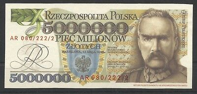 Poland, Banknotes 5000000 Milion, Unused