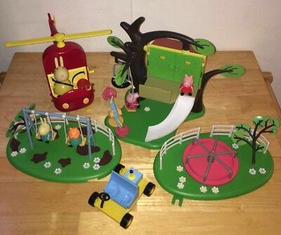 peppa pig bundle large treehouse And Park Rides figures accessories Joblot Toys