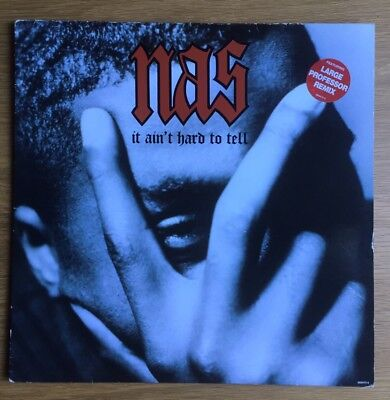 """Nas It Ain't Hard To Tell 12"""" Large Professor Remix Illmatic HIPHOP"""