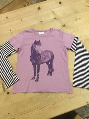 Mini Boden Girls Horse Print Top Age 11-12 Years