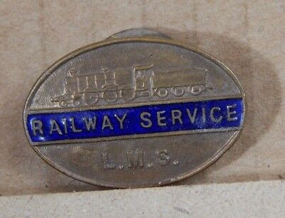 WW1 Home Front L.M.S London Midland Scottish Railway Service Lapel Badge A73407