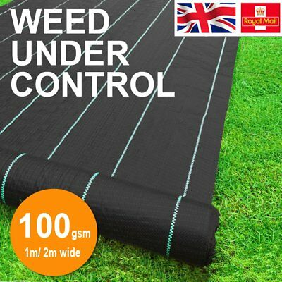 100gsm Weed Mat Weed Control Fabric Ground Cover Membrane Landscape Garden