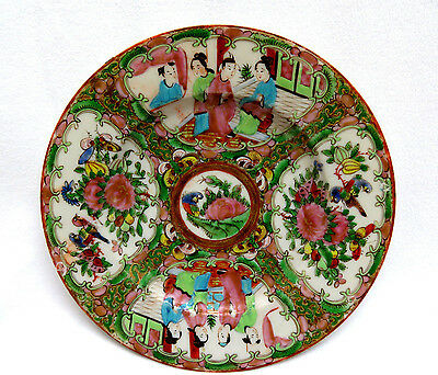 Antique Chinese Export Porcelain Plate Canton Famille Rose ~ Late Qing