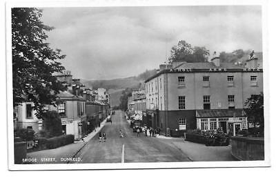 Old Real Photo Postcard, Bridge Street, Dunkeld, Scotland - Shops, Atholl Arms