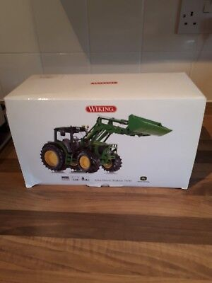 Wiking John Deere 7430 Tractor  & Loader Obsolete Model And Rare New In Box