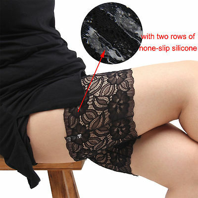 Ladies Lace Elastic Socks Anti-Chafing Thigh Bands Legs Prevent Chafing Non Slip