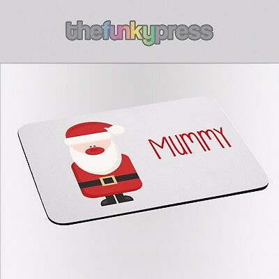 Printed Personalised Placemat Christmas Name Santa Elf Snowman Rudolph Gift