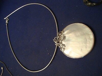Grandmas Estate Beautiful  Western Sterling Silver Big Chunky Necklace