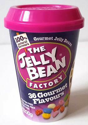 Jelly Bean Factory Gourmet Vegetarian Jelly Bean Sweets Cannister 200g