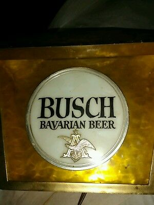 "BUSCH LIGHT BEER SIGN 1960's ""ELECTRIC"" as is"