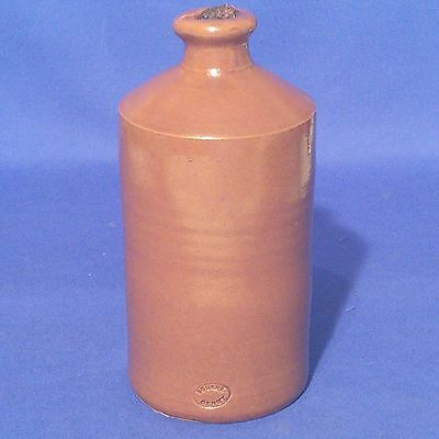 "Vintage BOURNE DENBY - Tall INK BOTTLE  with Pouring Lip & Cork (7.25"", 18.5cm)"