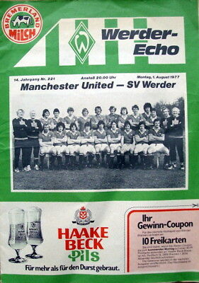 Werder Bremen v Manchester United friendly 1977/78