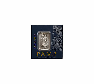 1 gram Platinum Pamp Suisse Bar .9995 In Assay from Multigram Fortuna