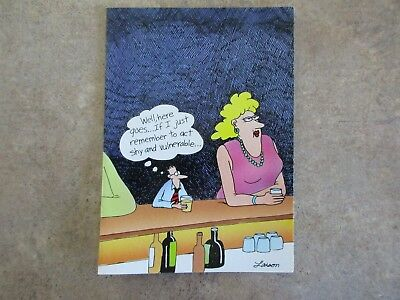 "Vintage /""The FAR SIDE/"" 1982 Greeting Card /""Early Man Birthday Card/""  NEW MINT"