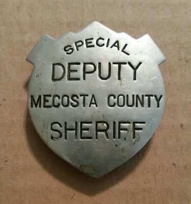 Special Deputy Sheriff,Mecosta County,Michigan,Obsolete Badge,Early 1900's