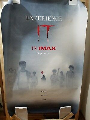 Stephen King IT (2017) IMAX DS 2 Sided 4 x 6 Bus Shelter Poster Pennywise
