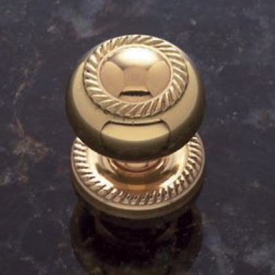 Sonoma Cabinet Hardware Solid Brass Gold Brass Finish Rope Design Knob with Back