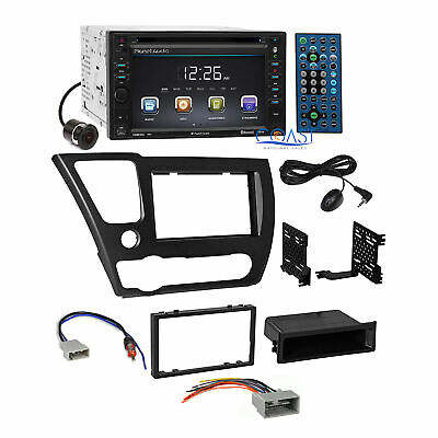 Planet Audio Car Camera Stereo 2 Din Dash Kit Harness for 2013-2015 honda Civic