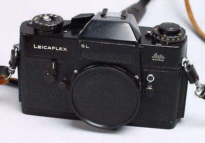 Leicaflex Sl Black Enamel Paint 35Mm Film Slr Body R Mount