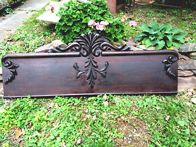 "Exceptional Victorian Oak Carved Pediment 52"" Robust Carvings,  Architectural"