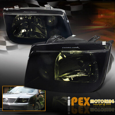 (BlackOut) VOLKSWAGEN VW 1999-2005 Jetta MK4 Dark Smoke Bora Style Headlights