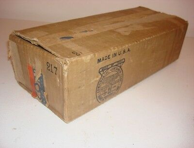 1937 - 39 Lionel 217 Red caboose, nickel trimmed  Box only