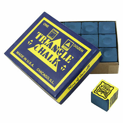 Blue Triangle Usa Special Billiard & Pool Cue Tip Chalk - Box Of 12 Pieces