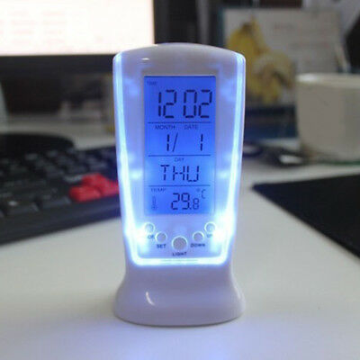 Projection Digital Weather LCD Snooze Alarm Clock Color Display Backlight Bling
