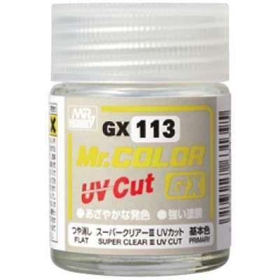 MR HOBBY Color Gunze LACQUER GX113 SUPER CLEARⅢ UV CUT FLAT Paint For Model Kit