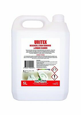 Uritex 5L, Scale and Stain Remover from Toilets and Urinals/ Drain Cleaner
